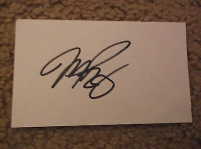 Mike Piazza  Signed Index Card Auto Autograph