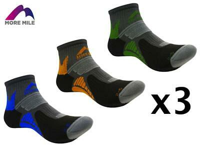 3 Pairs of More Mile Moscow Running Mens Womens Socks 2-5 , 5-8