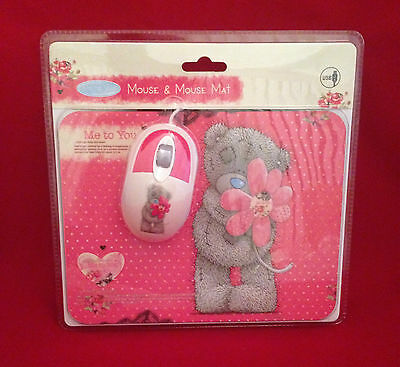 Me To You Bear Tatty Teddy Heart & Flower Computer Laptop Mouse & Mat Gift Set