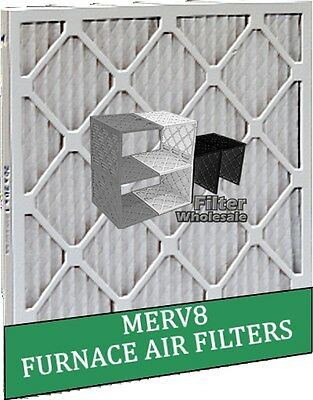 """Furnace Air Filter Pleated MERV 8 - High Efficiency 1"""" thick - Box of 12 Filters"""