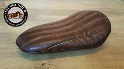 Cafe Racer Bobber Motorcycle Seat in Brown Bobber Cruiser Chopper Solo Seat