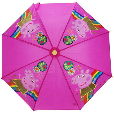 NEW OFFICIAL Peppa Pig Girls / Kids Umbrella / Brolly