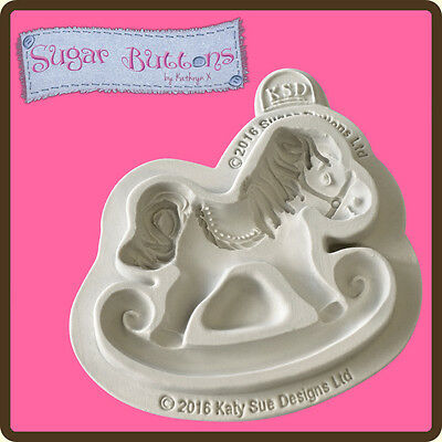 Katy Sue Designs SUGAR BUTTONS ROCKING HORSE Cake Crafting Mould CSB022