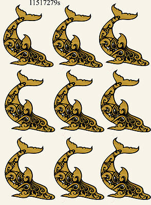 Ceramic Waterslide Decals Dolphin 11517279s FOOD SAFE LEAD FREE