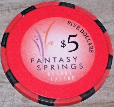 $5 Gaming Chip From The Fantasy Springs Casino Indio Ca