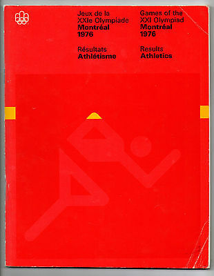 Official Results   Olympic Games MONTREAL 1976  -  ATHLETICS  !!  VERY RARE