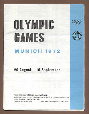 Orig.Complete PRG / Guide   Olympic Games MÜNCHEN 1972 - in English  !!  RARE