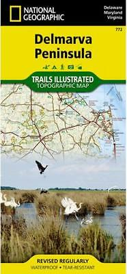 Delmarva Peninsula Chesapeake Bay Outdoor Recreation Map by National Geographic