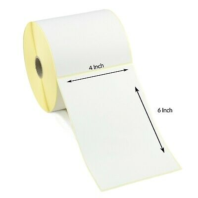 """4 x 6"""" Direct Thermal Labels with perf - Citizen, Toshiba, Zebra Printers"""