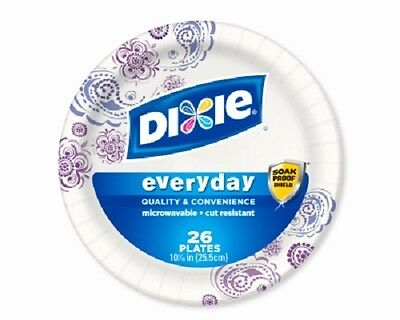 "Georgia Pacific Dixie, 104 Pack, 10"" - 1/16"", Heavy Duty Paper Plates."