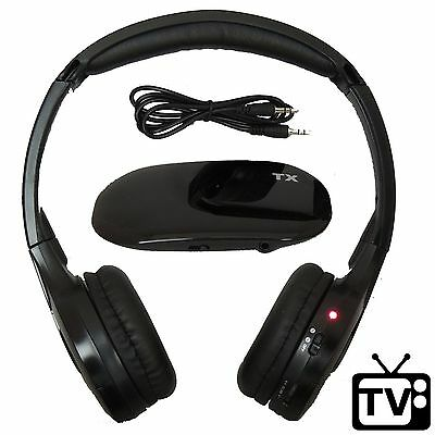 Best Wireless Headphones for TV Watching FM Stereo Kid Adult Size Dual Channel