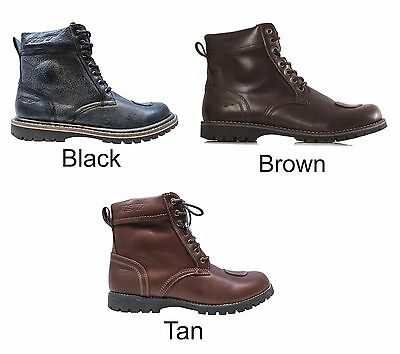 RST ROADSTER Brown/Black/Tan Leather Ankle Motorcycle/Scooter/Cruiser Boots