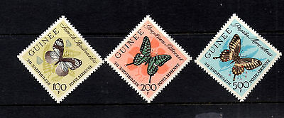 (Ref-7861) Guinea 1963 Butterflies - Airmail Issue SG.397/399  Mint (MNH)