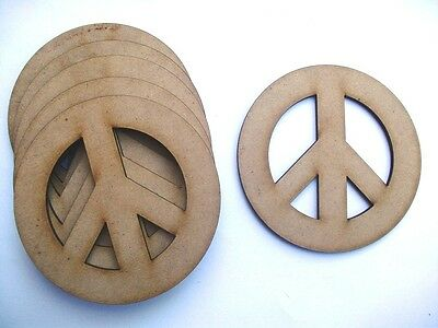 Peace Signs x 10 - Mdf Laser Precision Cut Outs