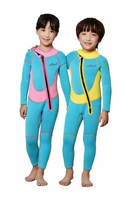 2.5mm Neoprene Watersports Kids Child Swimwear Long Sleeve Diving Full Wetsuit