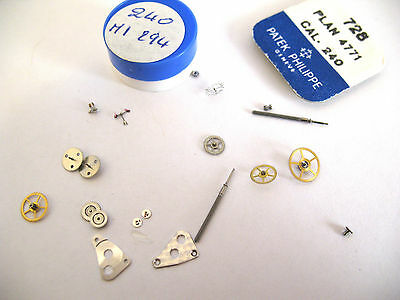 Patek Philippe 240 Assorted Watch Movement Parts