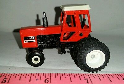 1/64 Custom Agco Allis Chalmers 7060 Tractor Black Belly Duals Ertl Farm Toy