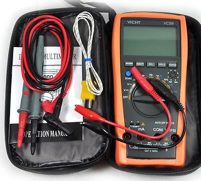 New VC99 3 6/7 Auto Range Digital Multimeter Thermomete Capacitance Resistance