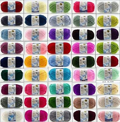 Wholesale !!72colors 5 stocks of milk cotton thread 50g Knitting Yarn Baby Knit