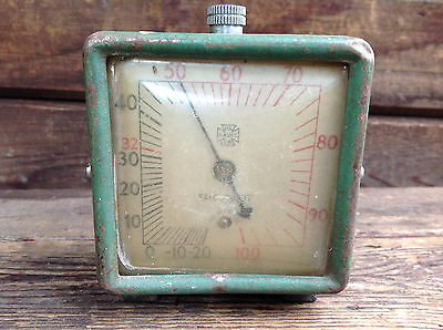 Very Cool Vintage 1950's US Gauge Co Thermometer with Roll Out Pointer