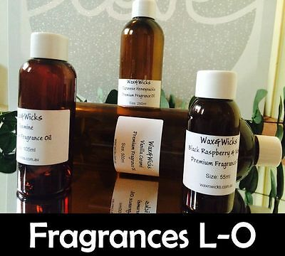 Premium Fragrance Oil (Scents L-O) For Candles, Soaps, Oil Burners - 10ml-1000ml