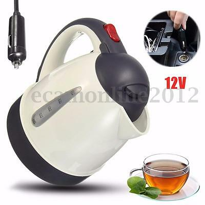 1000ml Car Auto Kettle Portable Water Heater Travel Mains 12V for Tea Coffee