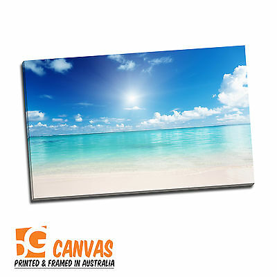 Framed Canvas prints, seascape print on canvas, Sun of Beach,beach view