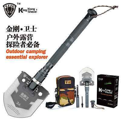HOT! Survival Knife Shovel Axe Multi-function Outdoor Self Driving Camping Tool