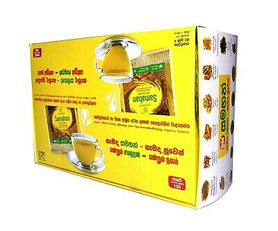 100 Link Samahan Ayurvedic Herbal Tea Packets Sri Lankan Natural Drink
