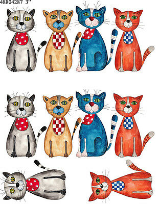 Ceramic Waterslide Decals Sassy Cats 48804287  FOOD SAFE LEAD FREE
