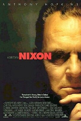"""NIXON ORIGINAL ROLLED 2/S MOVIE POSTER 1995 DOUBLE SIDED OLIVER STONE 27""""x40"""""""