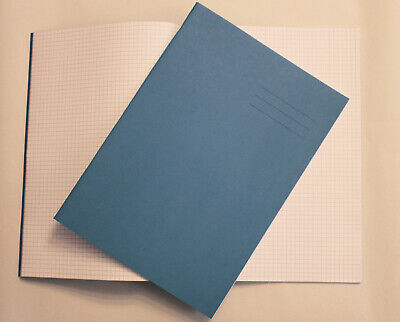 80 Page A4 Orange Exercise Book with 5mm Squares Ideal for School Maths Drawing