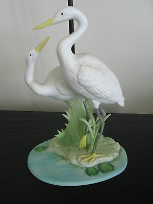 Andrea by Sadek Double White Heron Figurine #7348