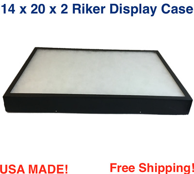 Riker Display Case 14 x 20 x 2 for Collectibles Jewelry Arrowheads & More