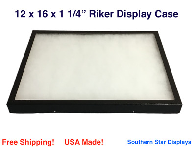 Riker Display Case 12 x 16 x 1 1/4 for Collectibles Arrowheads Jewelry & More