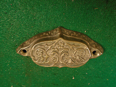 Beautiful Vintage Eastlake Drawer Pull - Cast Brass  (5666)