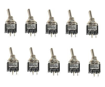 10 ON/OFF SPST Mini Toggle Switches