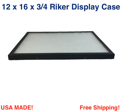 12 x 16 x 3/4 Riker Display Case Box  for Collectibles Jewelry Arrowheads & More