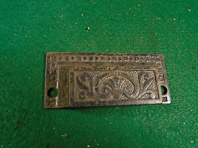 Beautiful Vintage Eastlake Drawer Pull - Cast Steel  (5668)