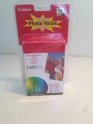 """Canon BCI-16 Photo Paper Glossy 140 4""""x6"""" Sheets NEW"""