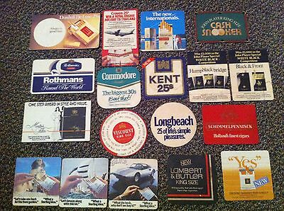 Vintage Retro Cigarette Advert Beer Coasters Dunhill Rothman Kent Bar Mancave