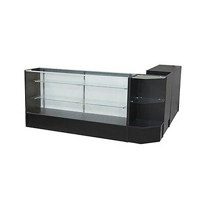#sccombo-B Showcase Glass Display Case Check Out Counter Set **brand New**