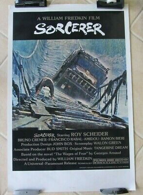Sorcerer Original Near Mint Rolled 27X41 Theatrical One Sheet Movie Poster 1977