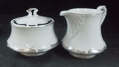 Harmony House STARLIGHT Creamer & Sugar Bowl with Lid 3656 GREAT CONDITION