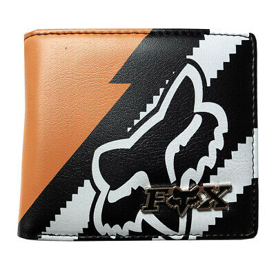 New with Box FOX Men's Surf PU Leather Wallet  Xmas Gift #021