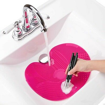 Silicone Makeup Brush Cleaner Washing Scrubber Board Cosmetic Cleaning Mat