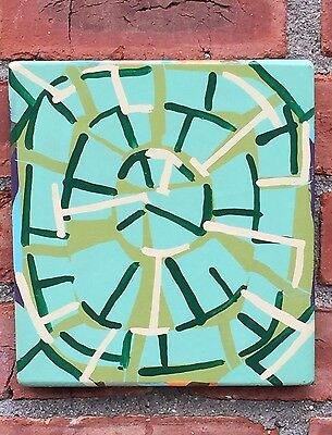 New York Artist Tom Burckhardt Signed Abstract Enamel Painting. 1992