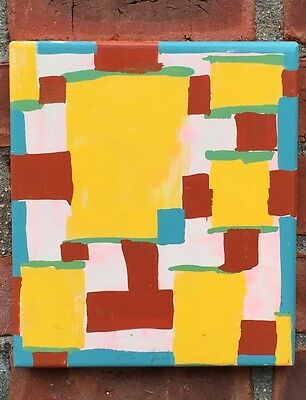 New York Artist Tom Burckhardt Abstract Enamel Painting. Signed. 1992