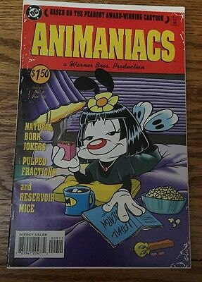 Animaniacs Comic Book # 9 PULP FICTION Cover PINKY Rare 1996 Ex Condition!