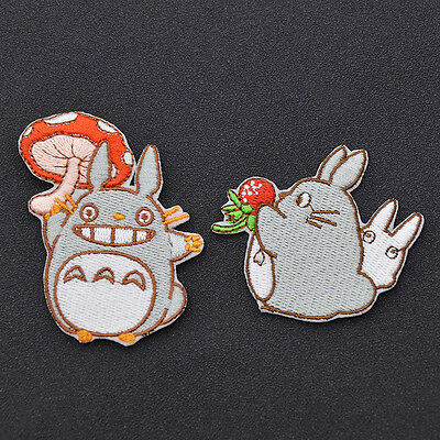 Cute Anime Totoro Pattern Sew On Patch Embroidered Applique Badge for DIY Craft